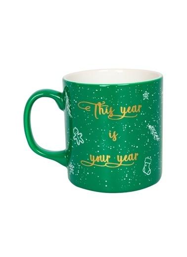 Rakle 320 cc Happy New Year Mug Yeşil Yeşil